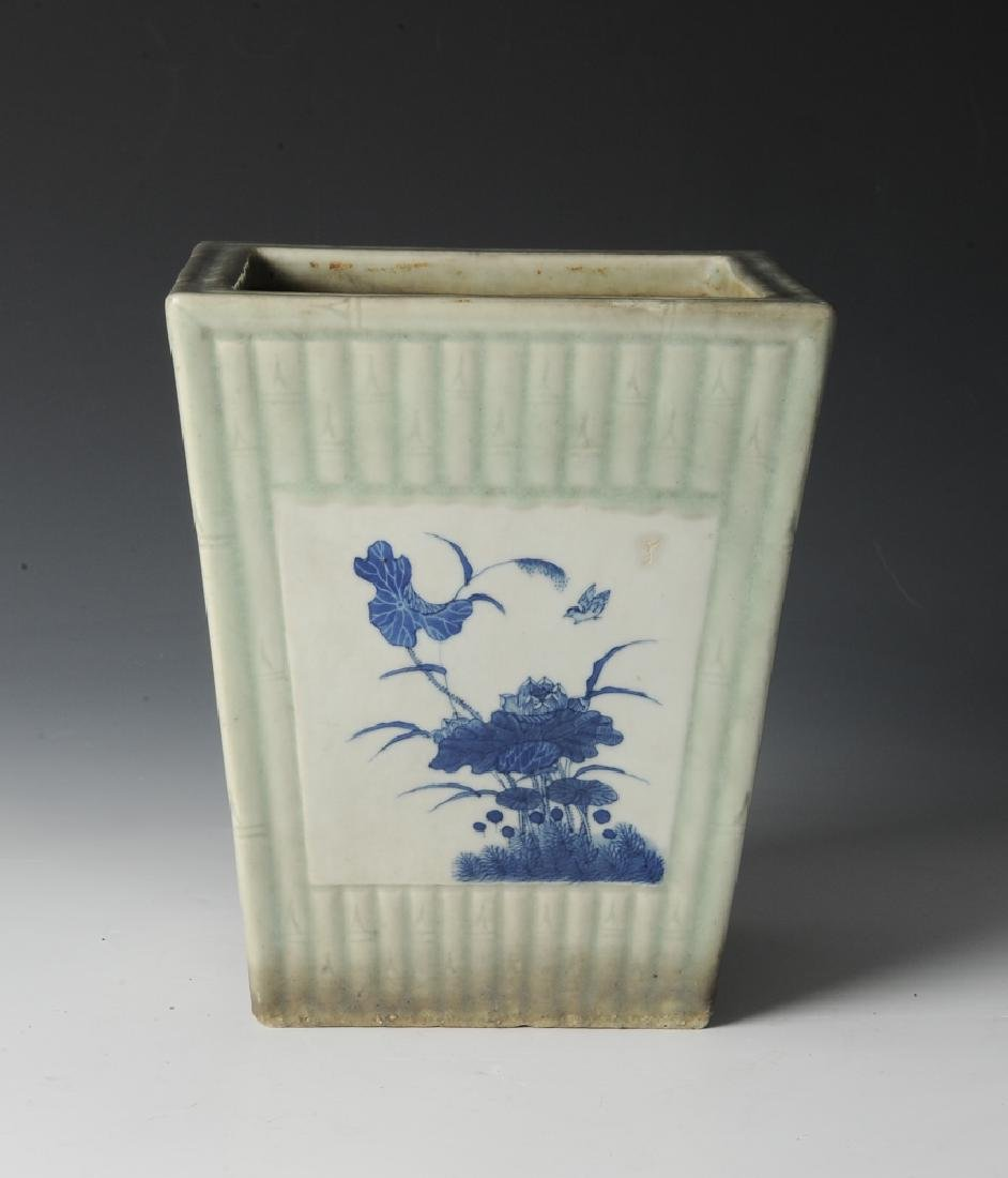 Chinese Celadon Glazed Planter, 19th Century - 6