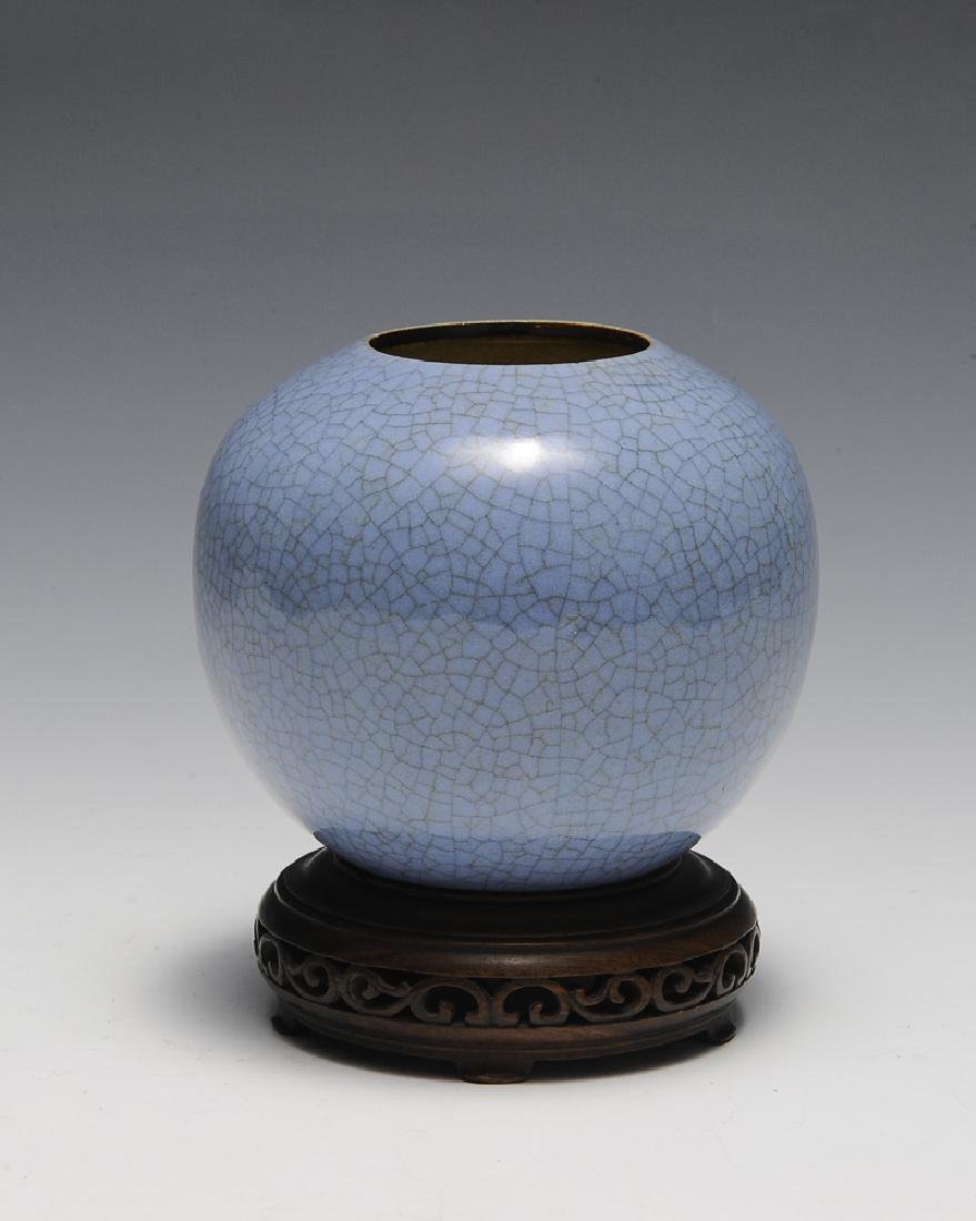 Chinese Ge Glaze Water Coupe, 18th Century