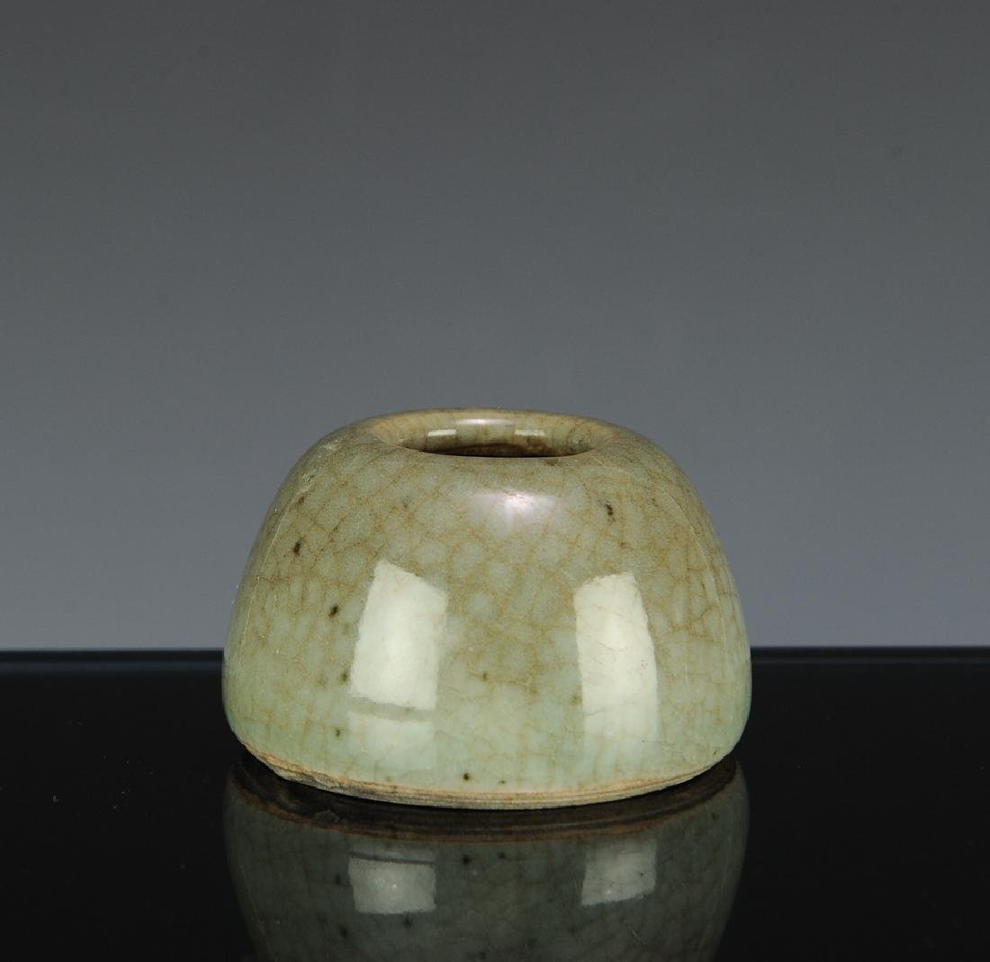 Chinese Green Ge Glazed Water Coupe, 18th C - 3
