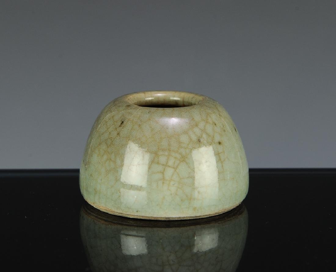 Chinese Green Ge Glazed Water Coupe, 18th C - 4