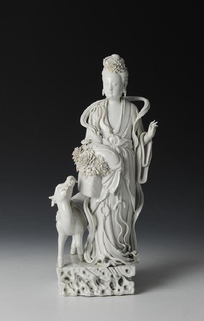 Chinese Blanc de Chine Guanyin, 18th-19th C