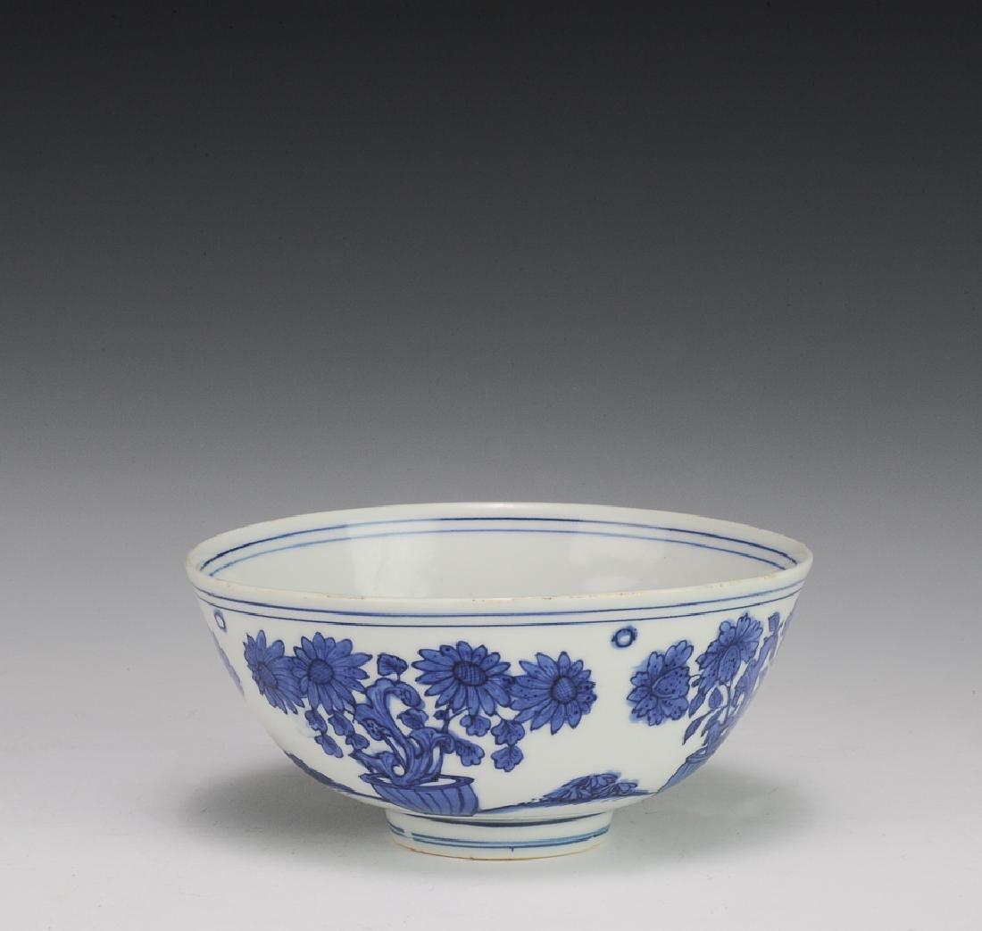 Blue & White Bowl, Jiajing Mark, Ming Dynasty