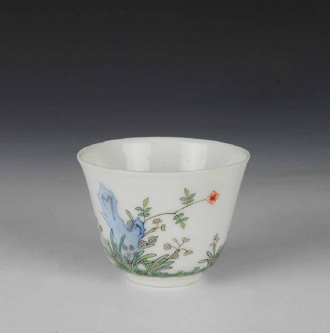 Chinese Famille Verte Teacup, 19th Century