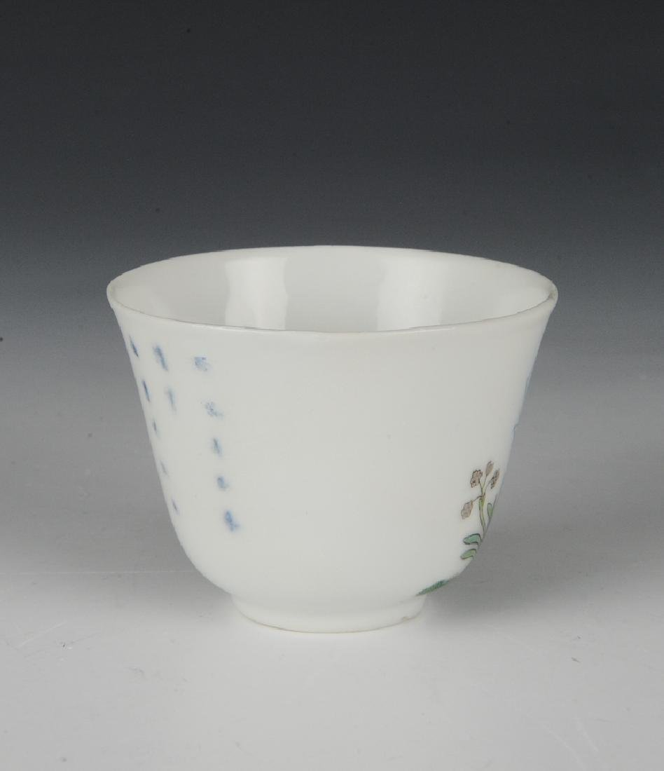Chinese Famille Verte Teacup, 19th Century - 2