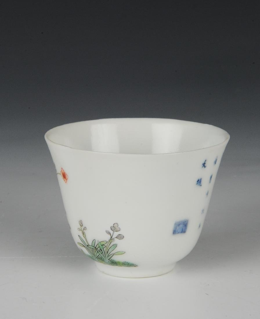 Chinese Famille Verte Teacup, 19th Century - 4