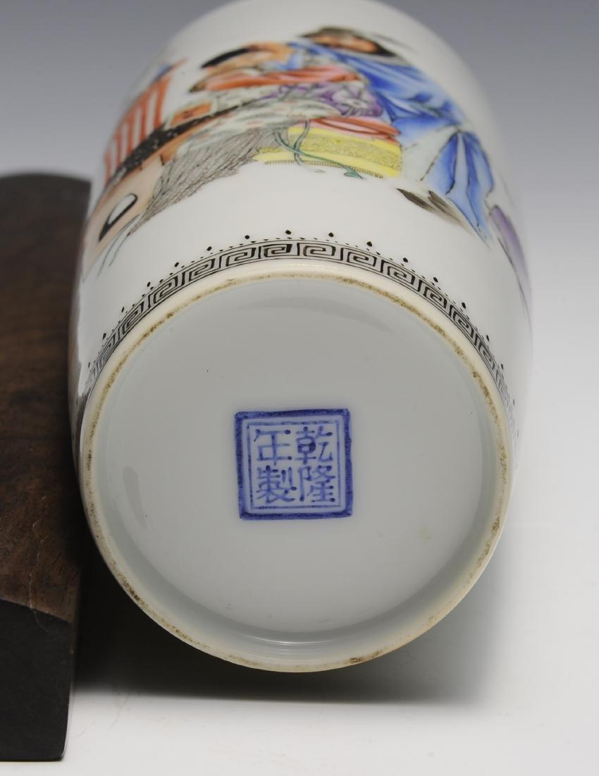 Chinese Famille Rose Vase w/ Zhong Kui, Republic - 5