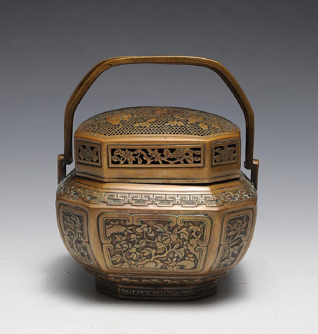 Chinese Bronze Hand Warmer by Pan Xiangfen, 17th C