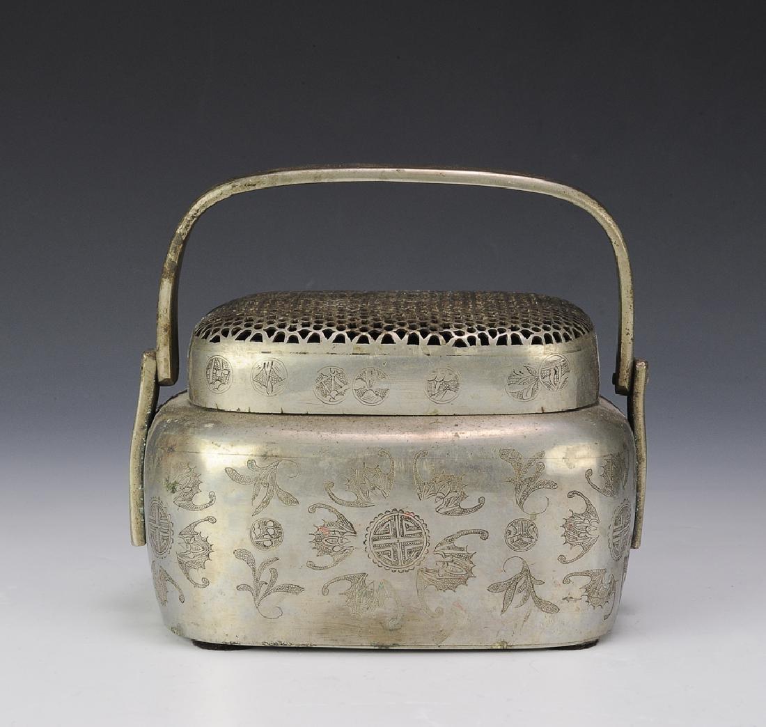Chinese Bronze Hand Warmer, 19th Century