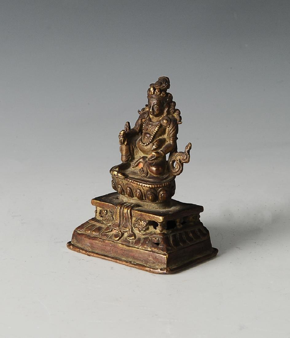 Bronze Tibetan Treasure God, Ming Dynasty