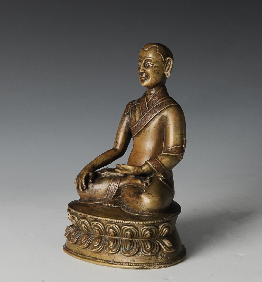 Bronze Buddhist Lama, Bhumisparsha, Ming