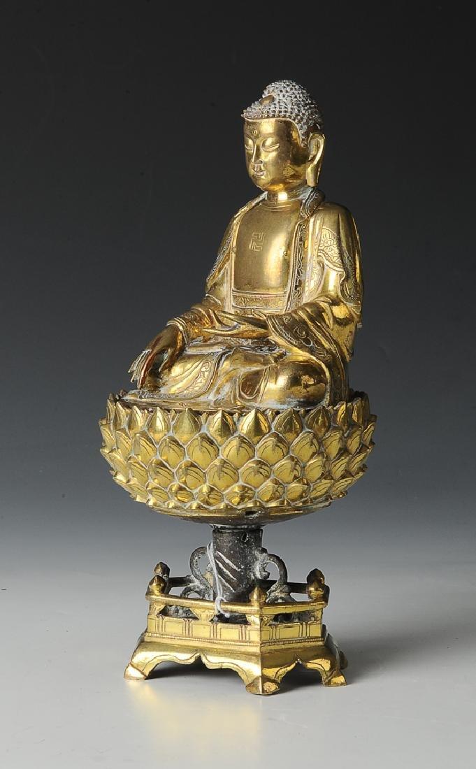 Gilt Bronze Buddha, Ming Dynasty