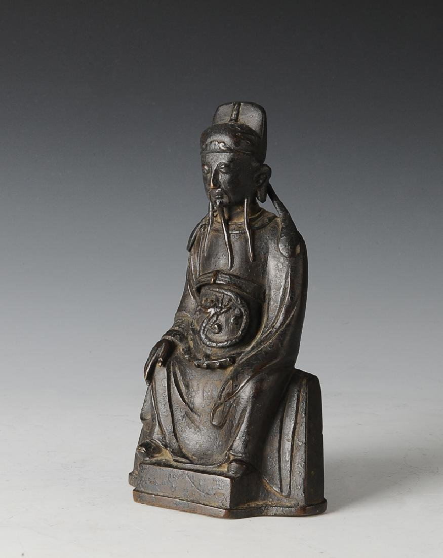 Chinese Daoist Bronze Figure, Ming Dynasty
