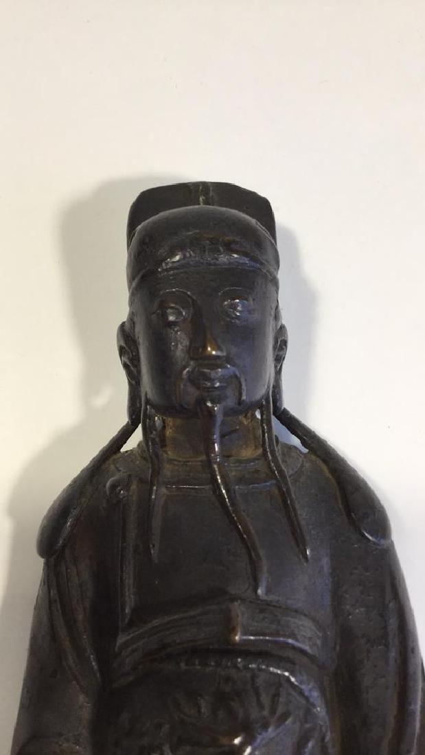 Chinese Daoist Bronze Figure, Ming Dynasty - 2