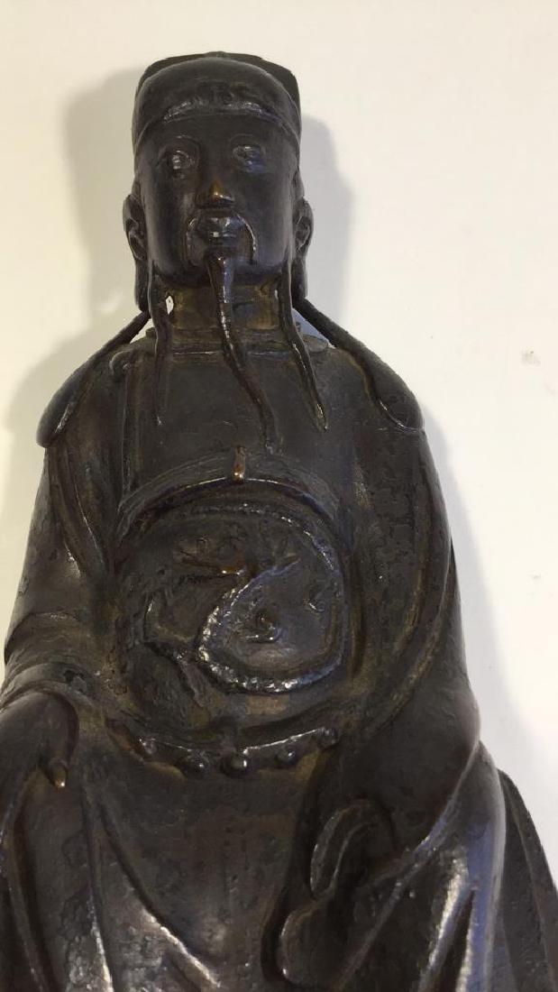 Chinese Daoist Bronze Figure, Ming Dynasty - 3