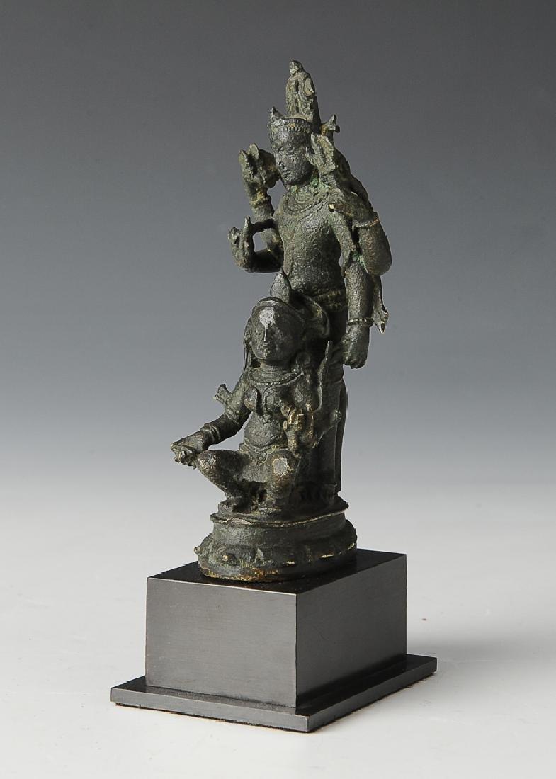 Indian Bronze Buddha, 14th-15th Century