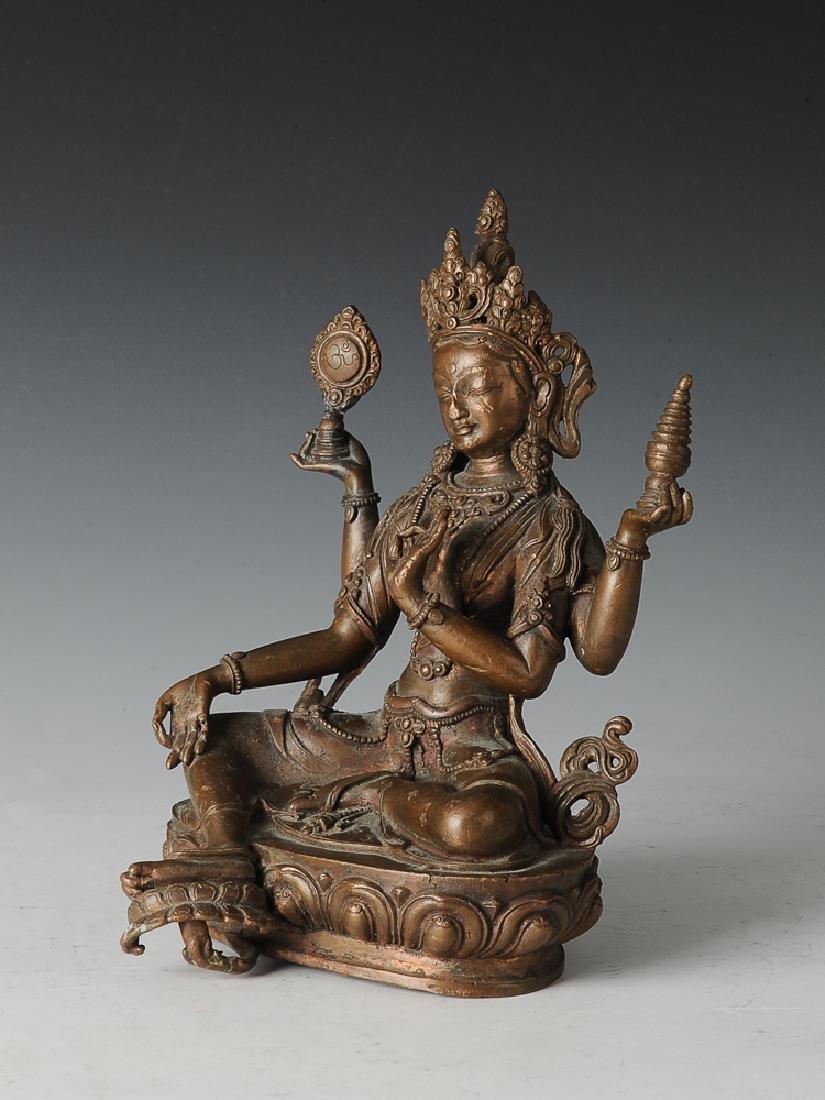 Bronze 4 Armed Tara Bodhisattva, 18th Century