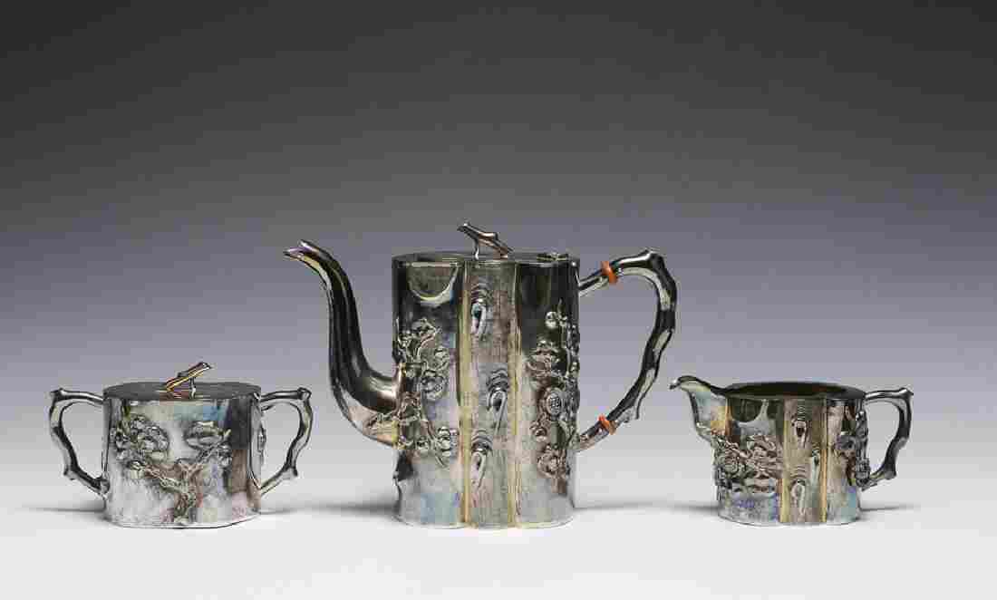 Chinese 3-Piece Set of Export Silver, Late 19th C