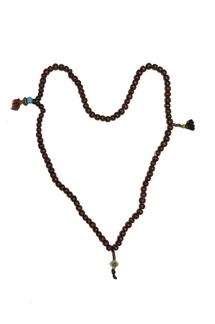 Tibetan Wood Necklace, 18th - 19th Century
