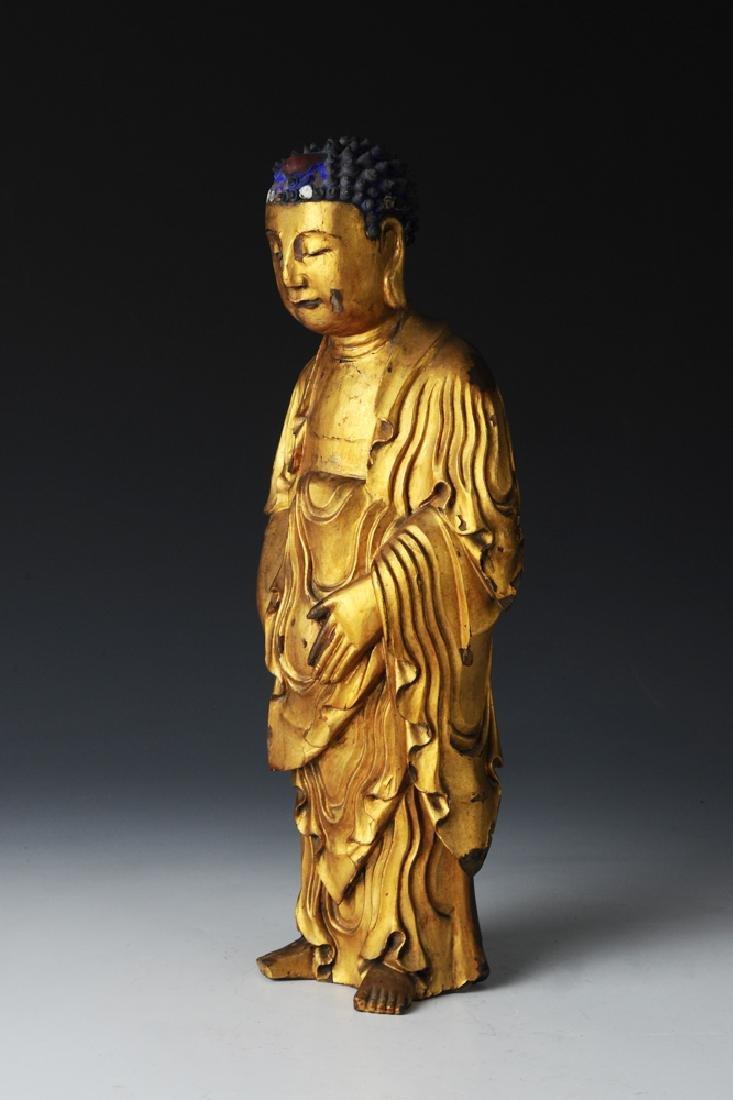 Standing Gilt Buddha, Ming Dynasty