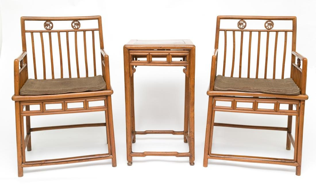 Set of Huangyang Table & Chairs, 19th C