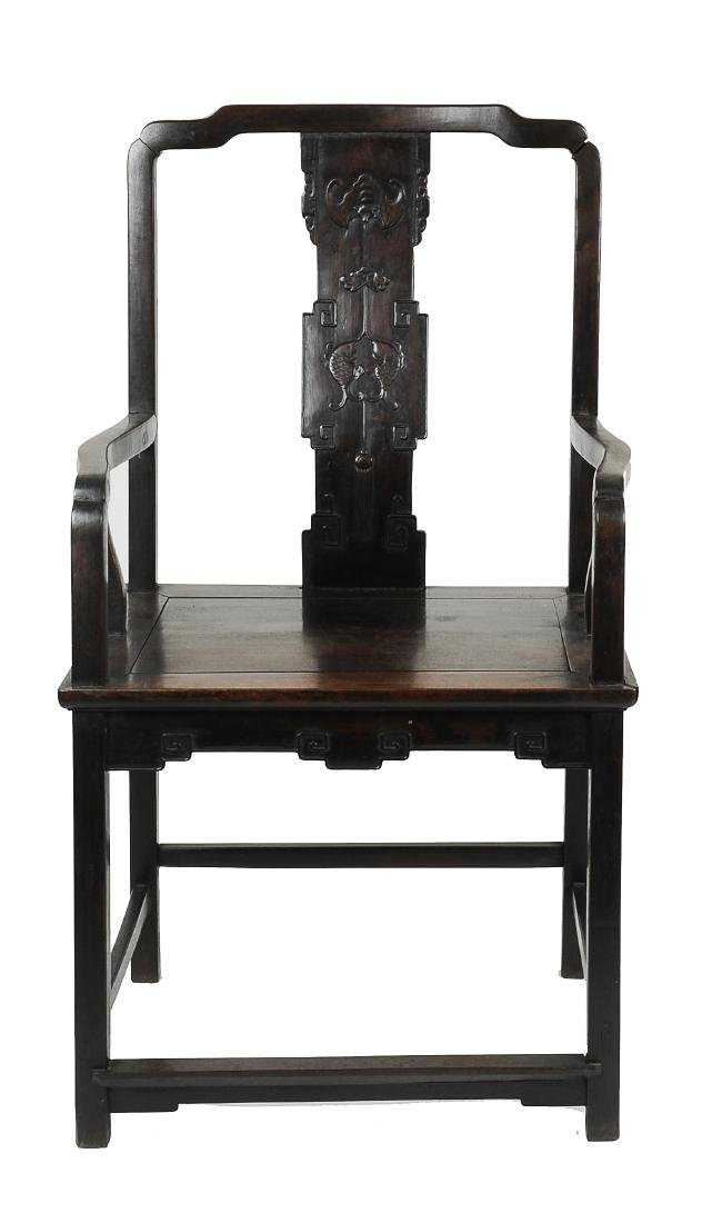 Chinese Wooden Arm Chair, 19th Century