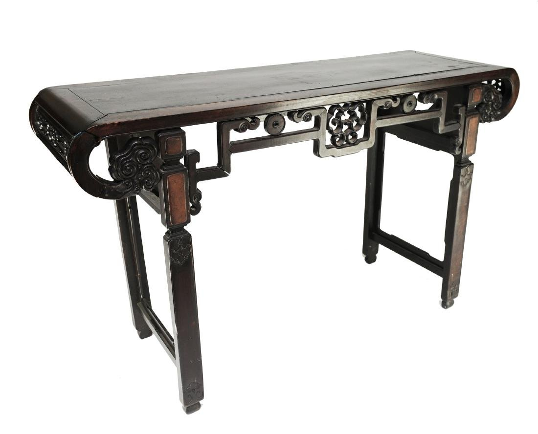 Chinese Rosewood Altar Table Late 19 -Early 20th C