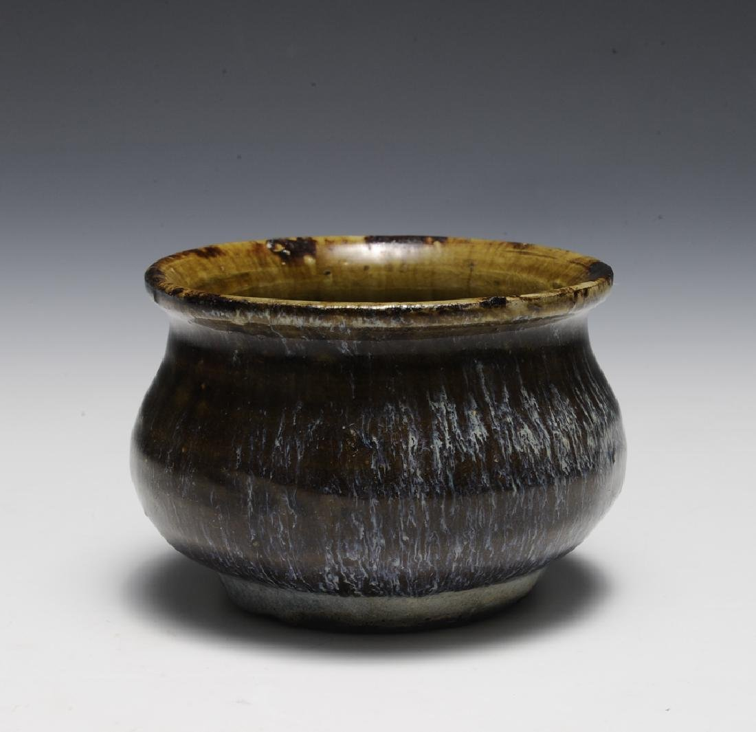 Chinese Shiwan Brown Flambe Glazed Censer, Ming