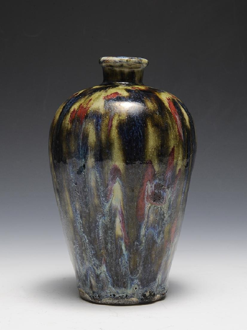 Chinese Shiwan Flambe Glaze Meiping, 18th C