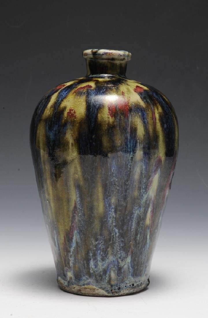 Chinese Shiwan Flambe Glaze Meiping, 18th C - 2