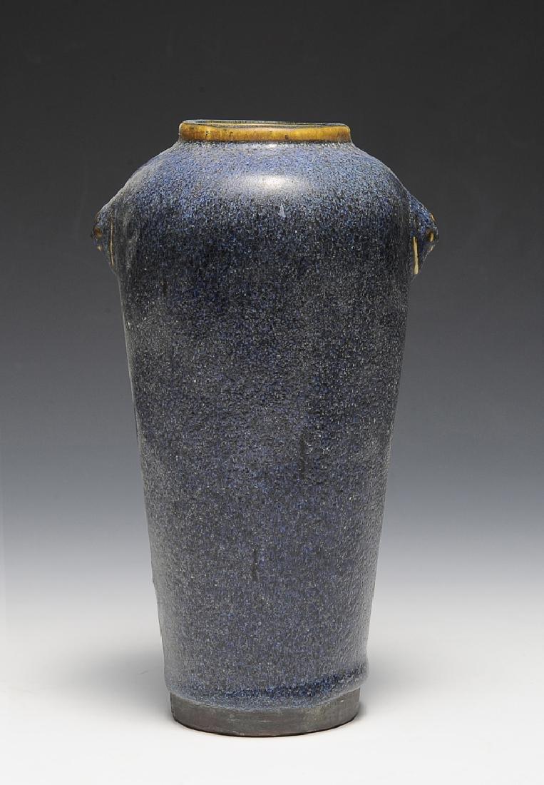 Chinese Blue Glazed Shiwan Vase, 18th Century