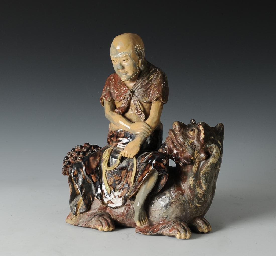 Chinese Shiwan Luohan Figure, 19th C