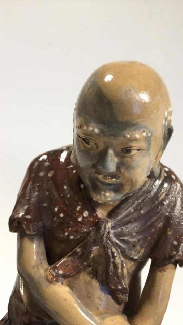 Chinese Shiwan Luohan Figure, 19th C - 2