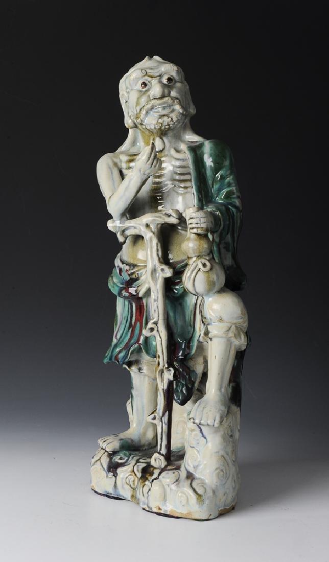 Chinese Shiwan Ceramic Luohan, 19th Century