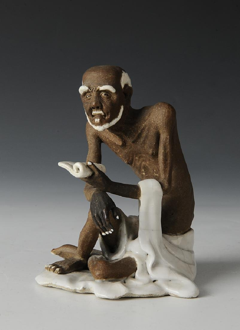 Shiwan Statue of Luohan, 19th - Early 20th Century
