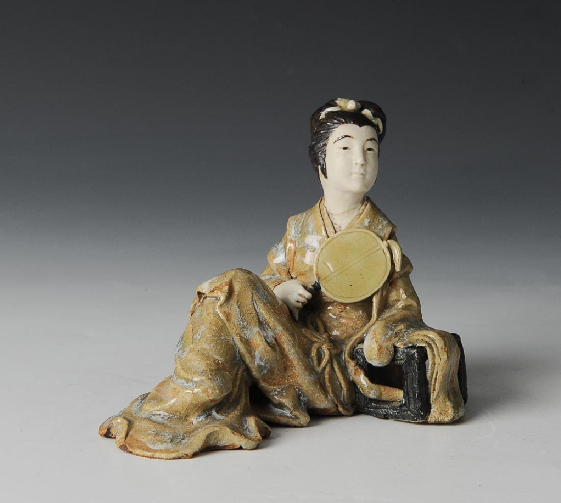 Shiwan Statue of a Lady, Early 20th C