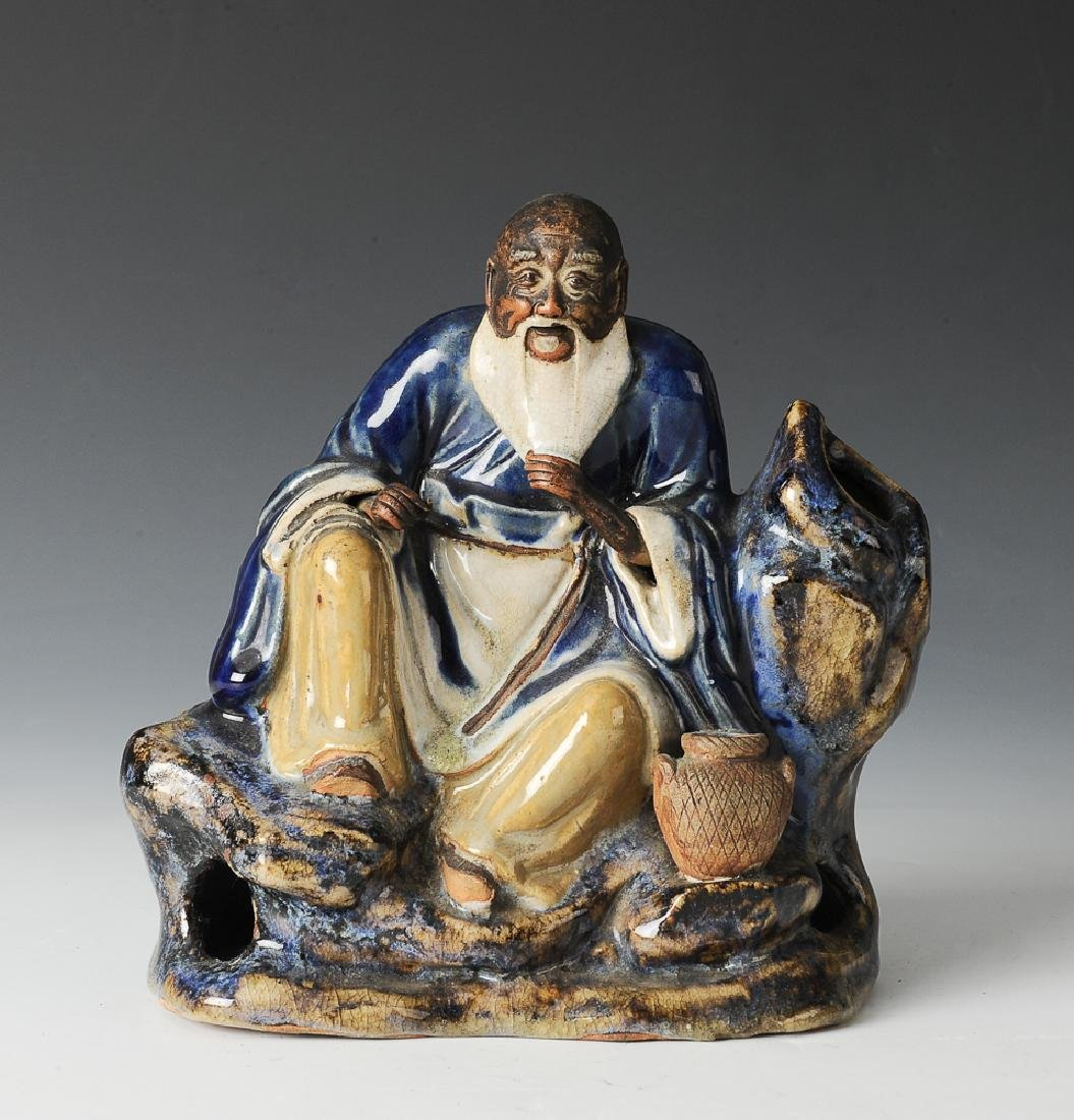 Shiwan Statue of a Fisherman, 18th-19th Century