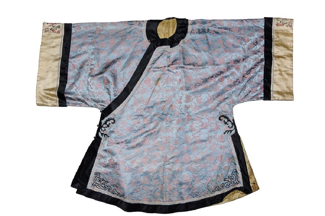 Chinese Lady's Purple Silk Robe, 19th Century