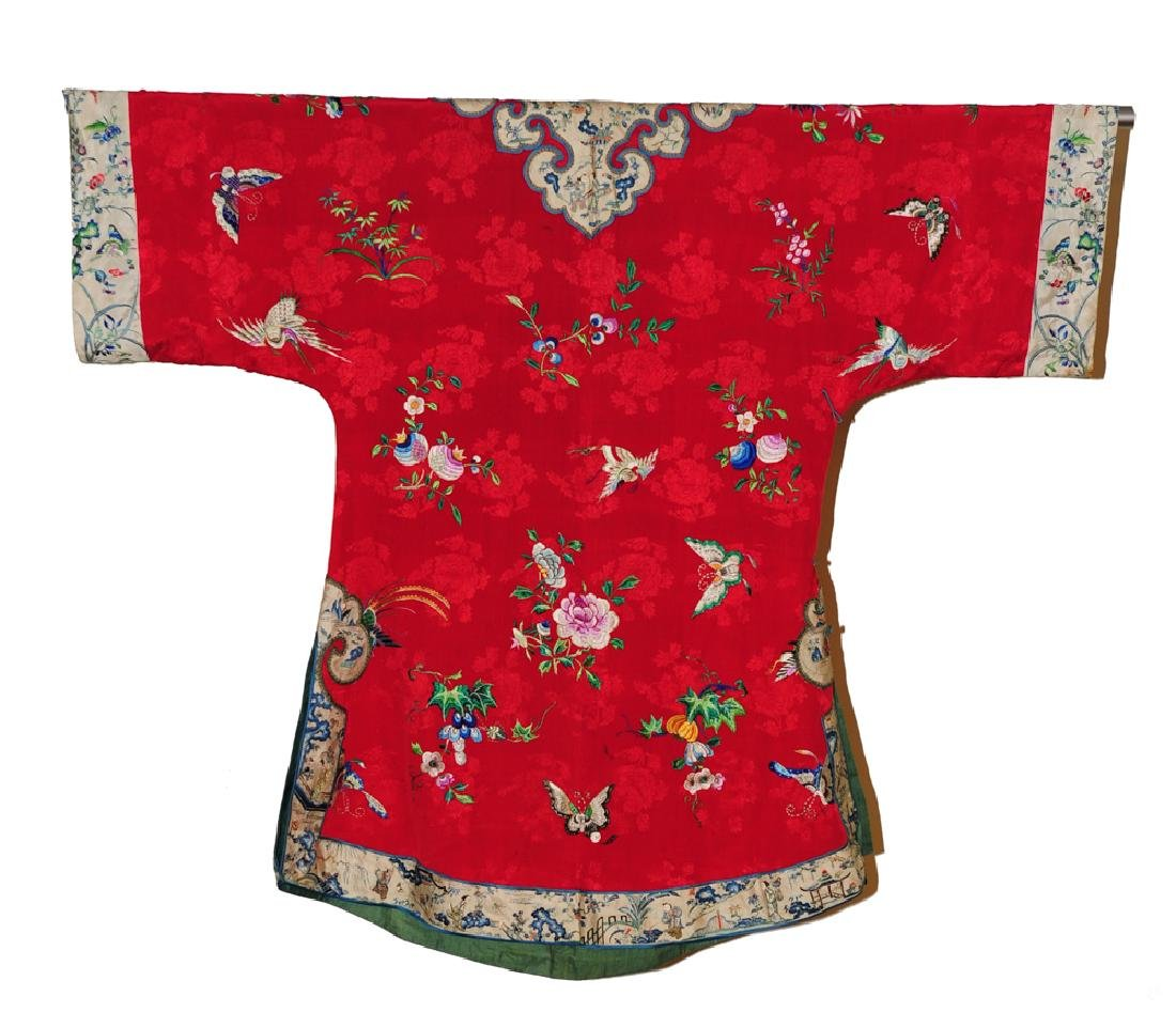 Chinese Red Woman's Robe, 19th Century