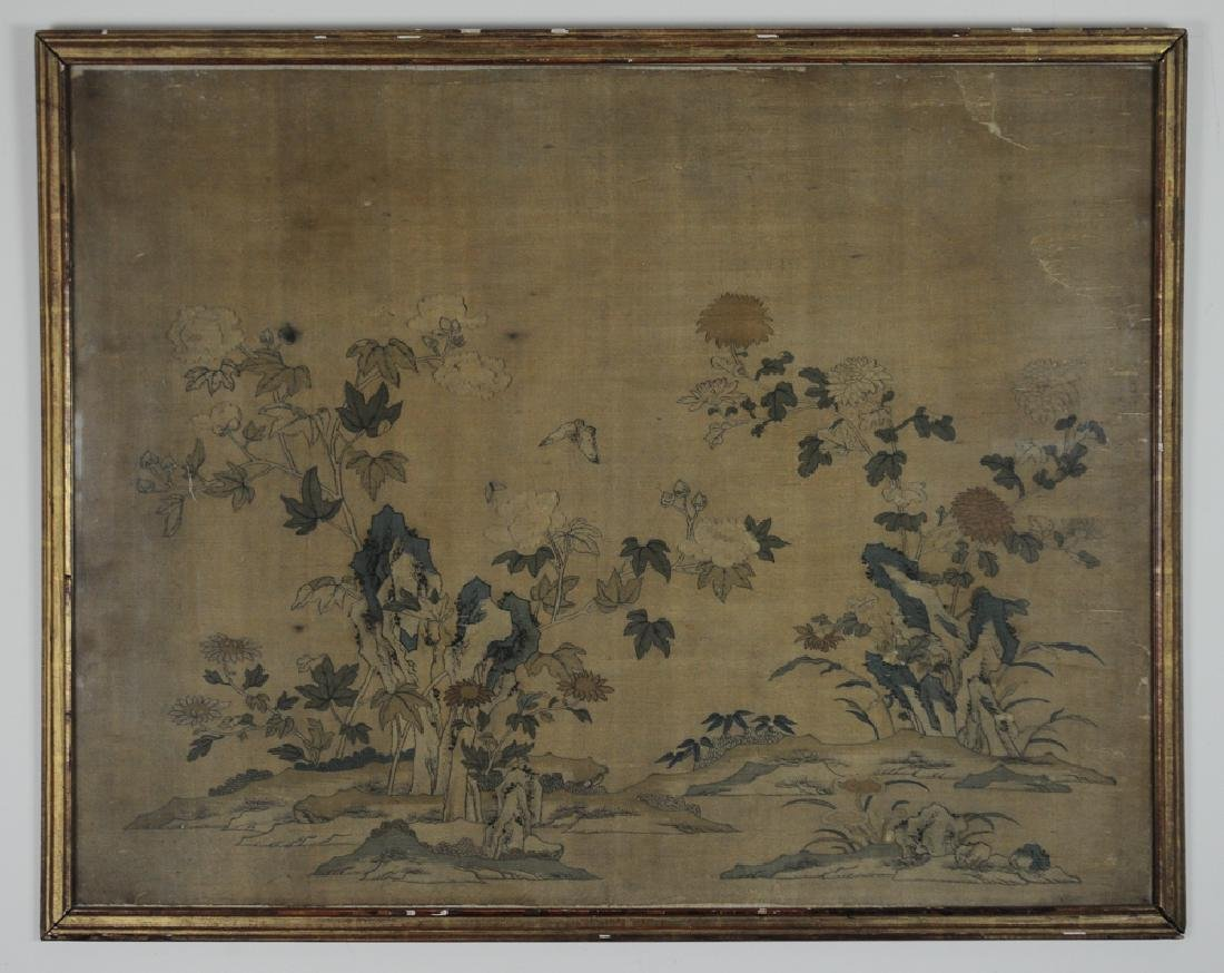 Chinese Kesi w/ Flowers & Butterflies, 18th C