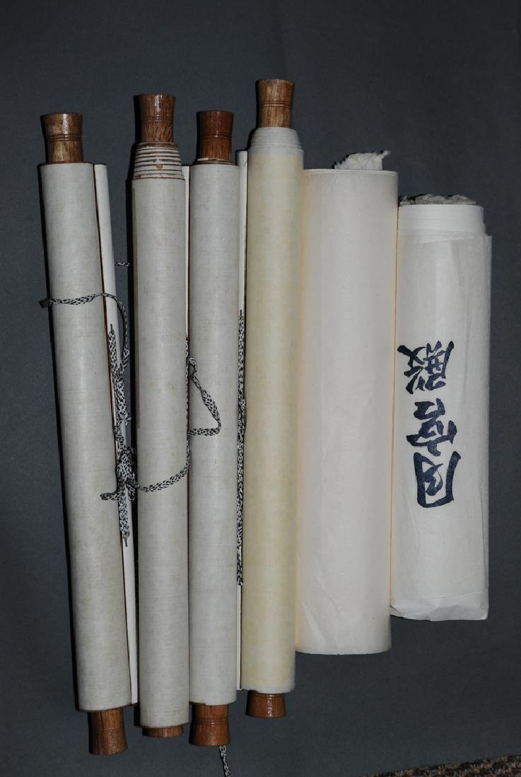 Group of 6 Blank Scrolls, Old Paper