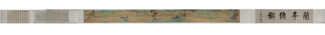 Chinese Hand Scroll of a Festival, 18-19th C.