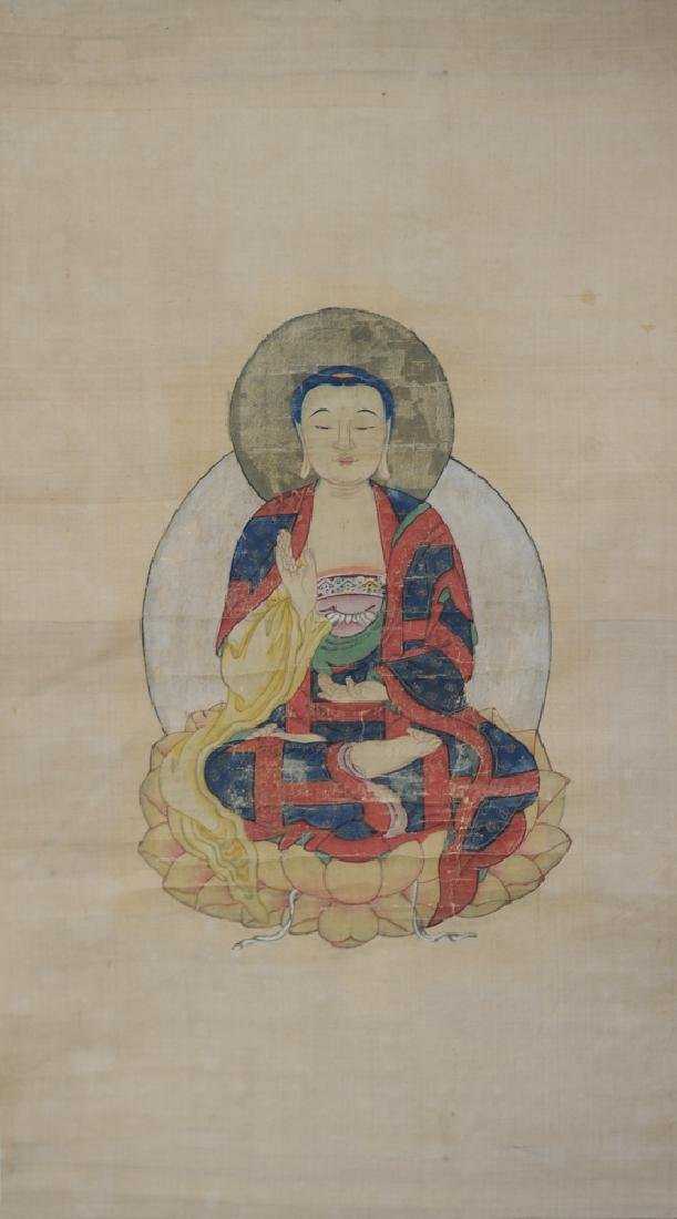 Painting of Buddha, Unsigned