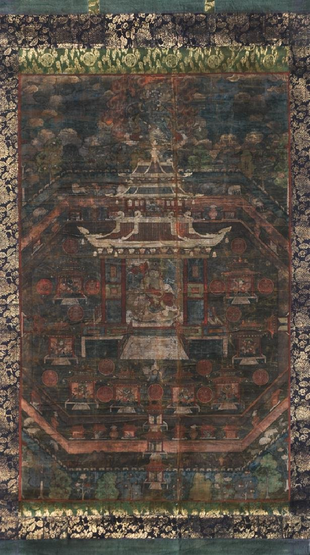Thangka featuring Guardian Deity, 17th -18th C