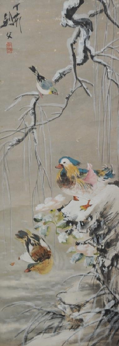 Chinese Painting of Snow attributed to Gao Jianfu