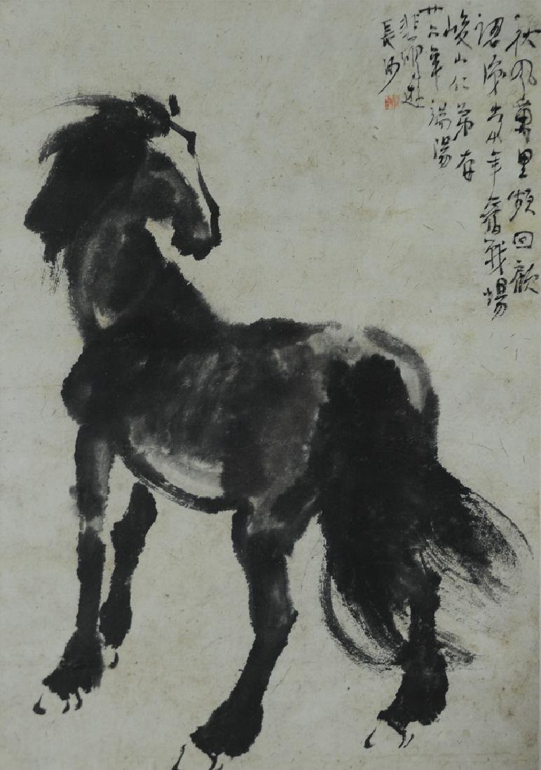Painting of a Horse by Xu Beihong (1895-1953)
