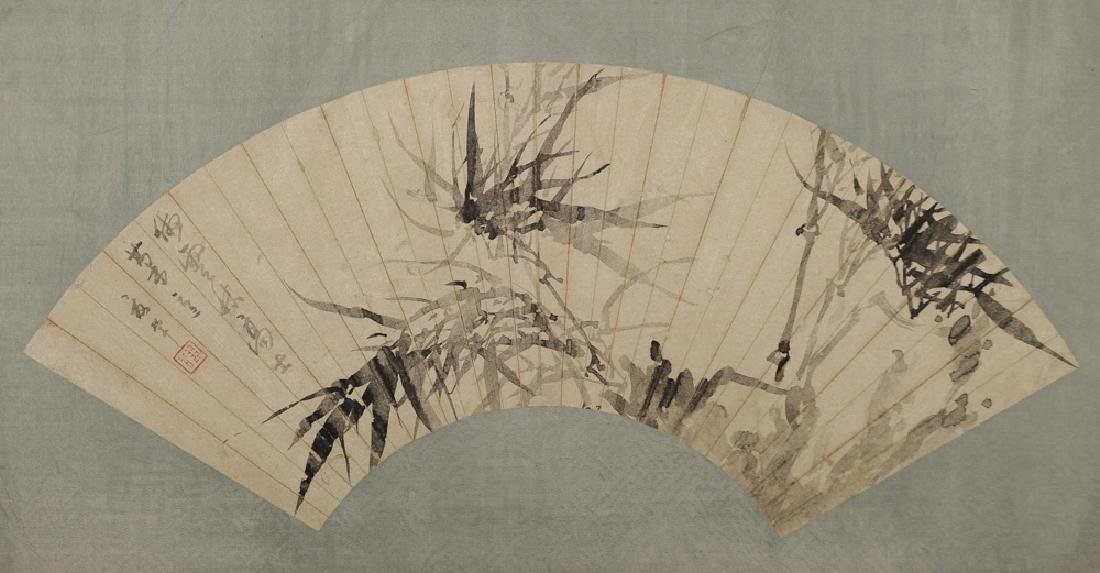 Painting of Bamboo on Fan, Xia Yun
