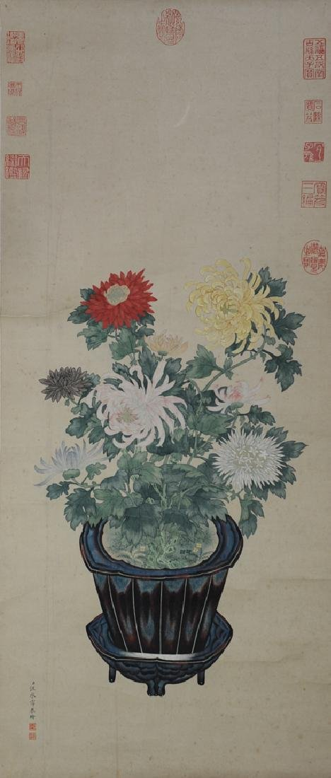Painting of Flowers Attributed to Wang Chenpei