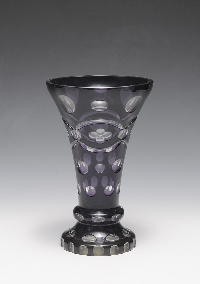 Bohemian Amethyst Glass Vase