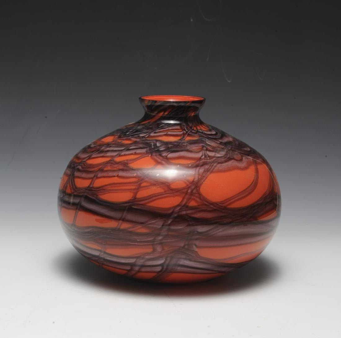 Red Kralik Glass Vase