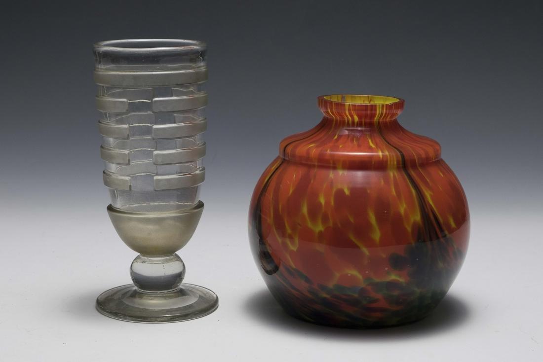 Scailmont Art Glass Vase & Czech Glass Vase
